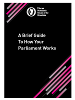 A Brief Guide To How Your  Parliament Works