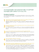 IFA Framework for negotiations to support farmers with credit difficulties