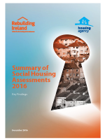 Summary of social housing assessments 2016