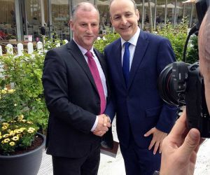 Senator Victor Boyhan and Micheál Martin, T.D. Leader of Fianna Fail